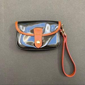 Dooney & Bourke Patent Leather Flap Wristlet
